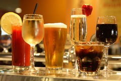 Various alcoholic Drinks royalty free stock photo
