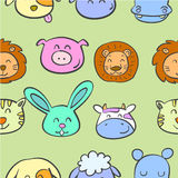 Various animal cute of doodles Stock Photo