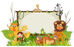 Various animals royalty free illustration