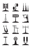 Various antennas and locators Royalty Free Stock Photos