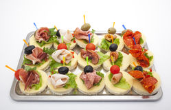 Various appetizers Stock Images