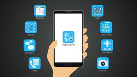Various application function for smart phone,mobile. (included Alpha&#x29 stock video footage