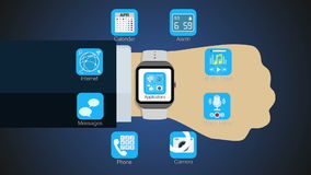 Various application function for smart watch,mobile stock video