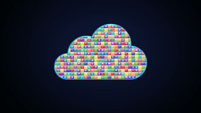 Various application makes Cloud service. stock footage