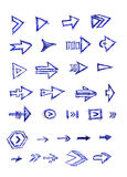 Various arrows Royalty Free Stock Images