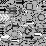 Various arrows seamless pattern Stock Image