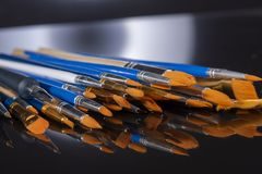 Set of brushes for painting royalty free stock photos