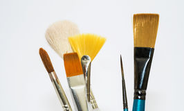 Various artists paint brushes Royalty Free Stock Photo