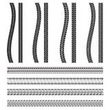 Various automobile tyre Royalty Free Stock Photo
