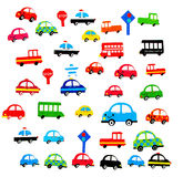 Various Automobiles, Trucks, Buses. The Various Automobiles, Trucks, Buses Royalty Free Stock Photography