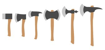 Various Axes Collection, Simple Color Flat Vector. Set Royalty Free Stock Photo