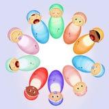 Various babies. Cute illustration of various babies Stock Photography