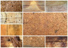 Various  wood backgrounds collage. Picture of a Various backgrounds collage Stock Image