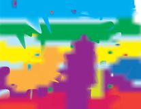 Various backgrounds of different colors.  royalty free illustration