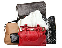 Various bags over white, with clipping path Stock Photos