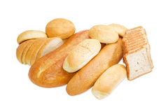 Various bakery products on a light background Stock Images