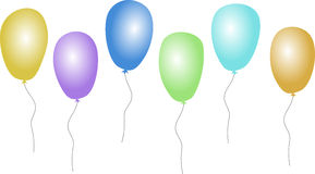 Various balloons. A set of various colored balloons Stock Photo