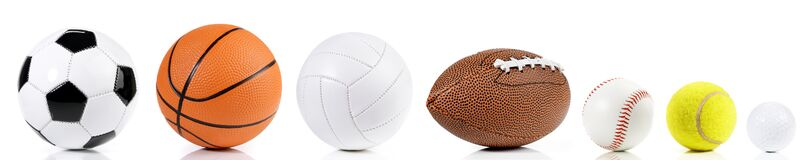 Balls isolated on white background - Ball Sport Panorama