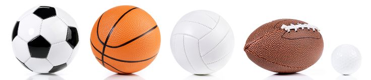 Various Balls - Sport Panorama royalty free stock photo