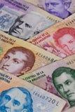 Various banknotes from Argentina Royalty Free Stock Photos