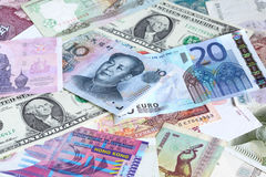 Various banknotes Royalty Free Stock Images
