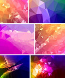 Various banner vector set with triangle pattern. Illustration Royalty Free Stock Images