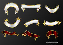 Various banners. A set of various banners for decorations Royalty Free Stock Photo