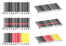 Various Bar Codes. Isolated on white Royalty Free Stock Images