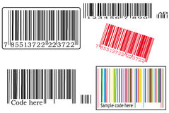 Various barcodes Stock Photos