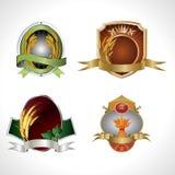 Various barley brand emblem Stock Images