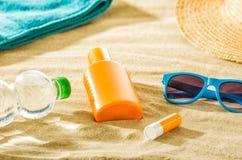 Various beach accessories Stock Photos