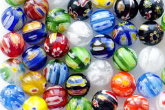 Various beads made of Murano glass Stock Photography