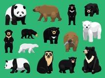 Various Bears Cartoon Vector Illustration. Animal Character EPS10 File Format Stock Photos