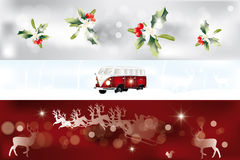 Various beautiful Christmas banner Royalty Free Stock Image
