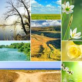Various beautiful landscapes Royalty Free Stock Photography