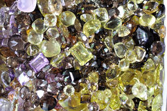 Various beautiful Thai gem for background. Stock Photography