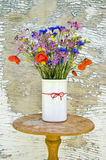 Various beautifull summer wild flowers in vase Royalty Free Stock Photography