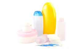 Various beauty hygiene containers Royalty Free Stock Photography
