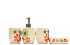 Various beauty hygiene containers Stock Images