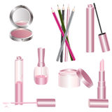 Various beauty products vector illustration
