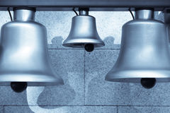 Various bells in a row Stock Image