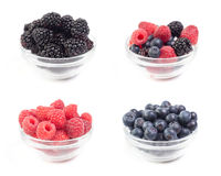 Various berries collage Royalty Free Stock Photo