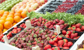 Various berries on market stall Stock Image