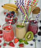 Various berry smoothies Stock Photography