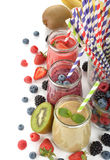 Various berry smoothies Royalty Free Stock Photography
