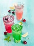Various beverage (cocktail or lemonade) Royalty Free Stock Images