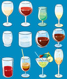 Various beverages royalty free stock photo