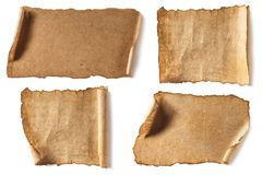 Various blank antique papers Stock Photography