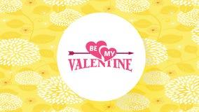 Be my valentine proposal text design
