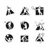 Various Block Sport Abstract Shape Symbol Vector Illustration Graphic Set. Various Block Sport Abstract Shape Symbol Vector Illustration Graphic Design Set stock illustration